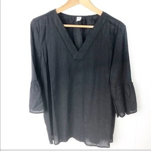 Old Navy Black bell Sleeves lightweight top Small